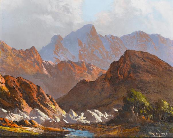 Marthinus (Tinus) Johannes de Jongh (South African, 1885-1942) Mountain scene