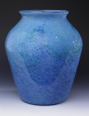 A Monart 'Bubbled' vase Shape F