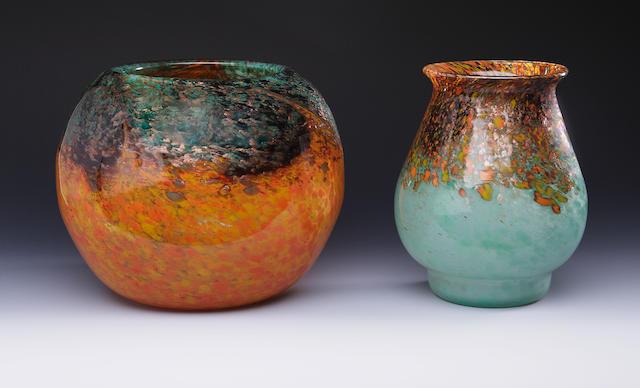A Monart vase Shape QF