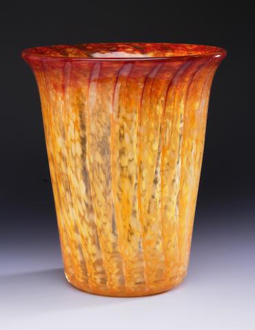 A Monart vase Shape AE
