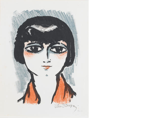 Cornelius Theodorus Maria (Kees) Van Dongen (Dutch, 1877-1968) Head of a young girl Lithograph, 1927