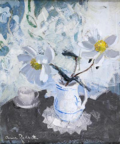 """Anne Redpath, OBE RSA ARA LLD ARWS ROI RBA (British, 1895-1965) """"White Peonies"""" (circa 1947)"""