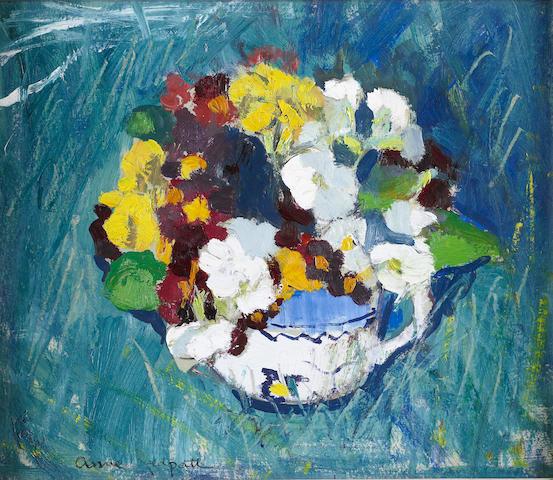 "Anne Redpath, OBE RSA ARA LLD ARWS ROI RBA (British, 1895-1965) ""Polyanthus"""
