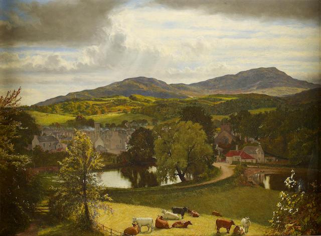 """John Faed, RSA (British, 1819-1902) """"Gatehouse"""""""
