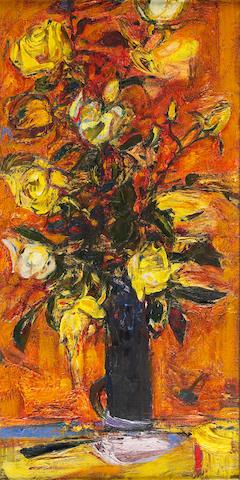 "Sir Robin Philipson, RA PRSA FRSA RSW RGI DLitt LLD (British, 1916-1992) ""Late Summer Roses"""