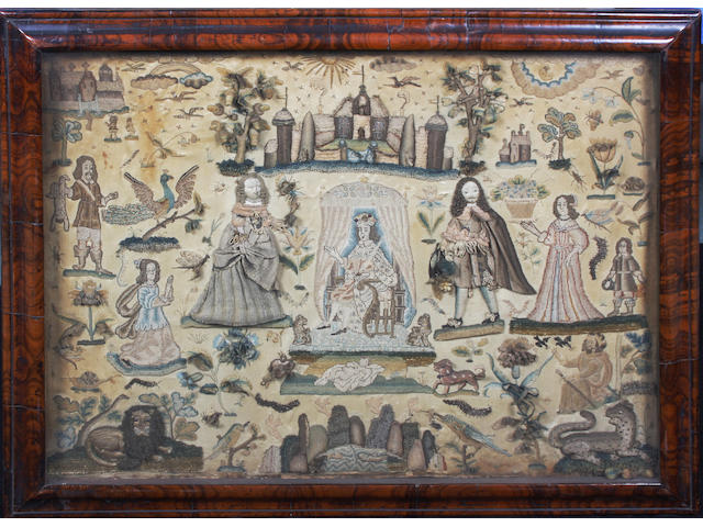 A stumpwork picture of 'The Judgement of Solomon'