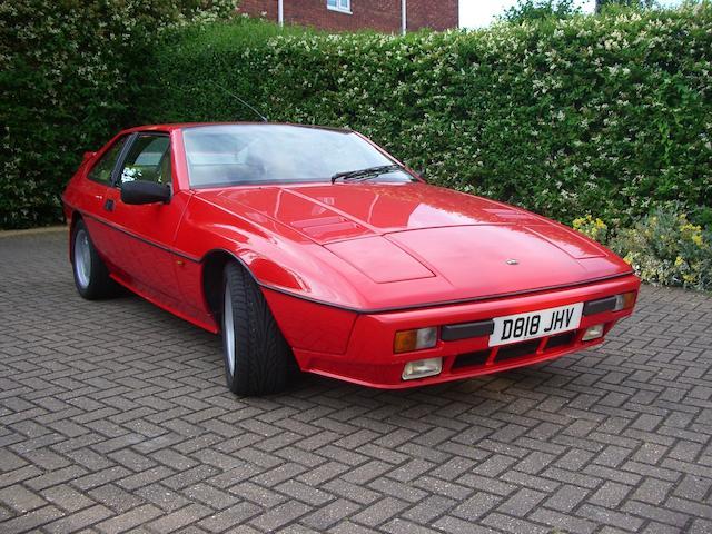1987 Lotus Excel SE Coupé  Chassis no. SCCO89912HHD12295 Engine no. DB912870123651
