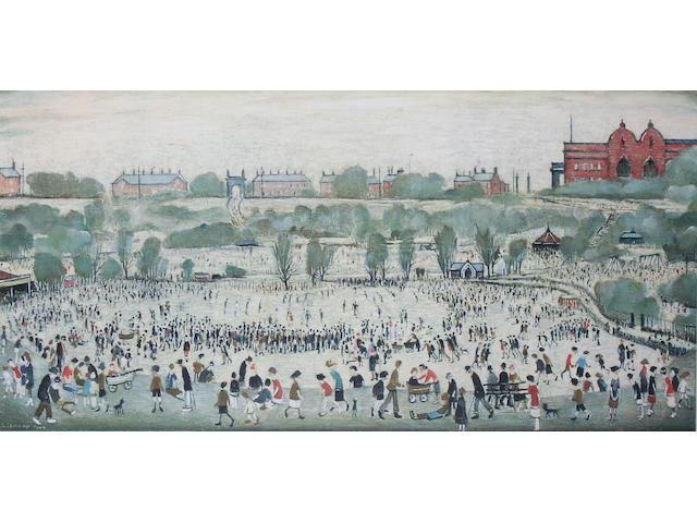 "Laurence Stephen Lowry R.A. (British, 1887-1976) ""Peel Park"","