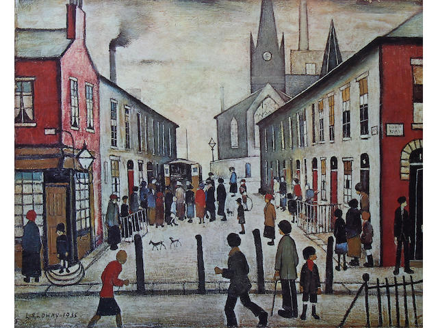 "Laurence Stephen Lowry R.A. (British, 1887-1976) ""Fever Van"","