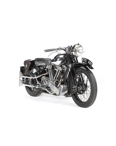 1938 Brough Superior 982cc SS100  Frame no. M8/1958 Engine no. BS/X2 1042
