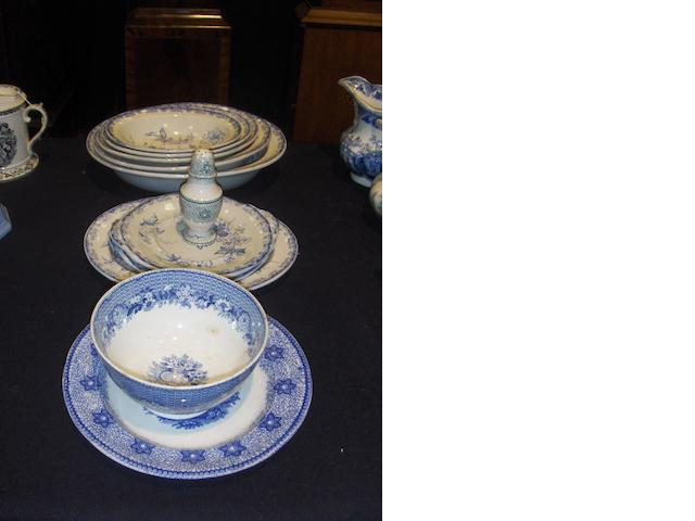A group of Llanelly printed dinnerwares