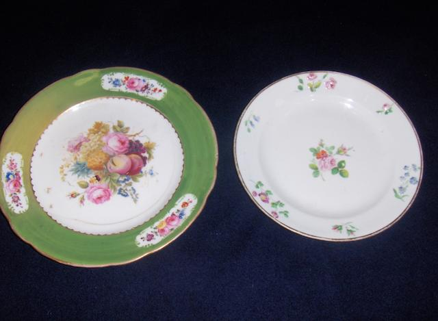 A Swansea plate and a Nantgarw plate.(2)