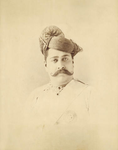 HOLKAR Two portraits of the Holkar Maharaja of Indore, [c.1890] (2)