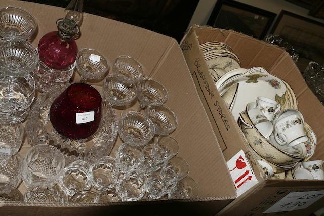 A quantity of assorted ceramics and glass