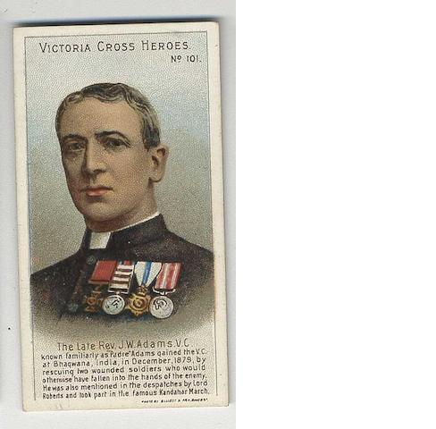 Taddy Victoria Cross Heroes set (101-125), Fronts G-EX, backs F-EX.