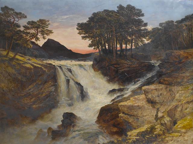 William West (British, 1801-1861) Midsummer midnight, Norway 91.5 x 122cm (36 x 48 1/16in).