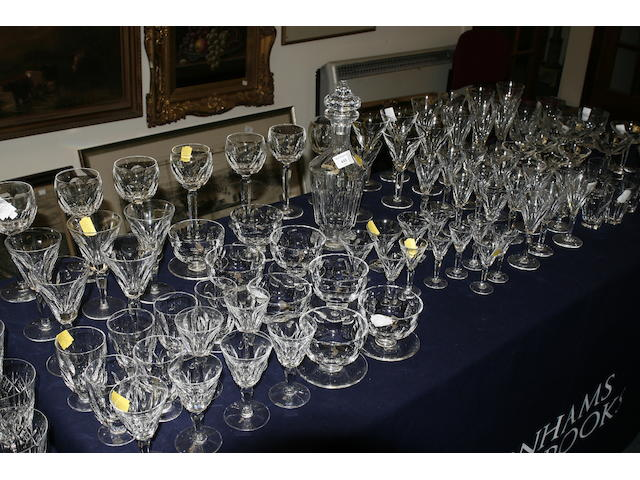 An assortment of 20th century Waterford cut glass