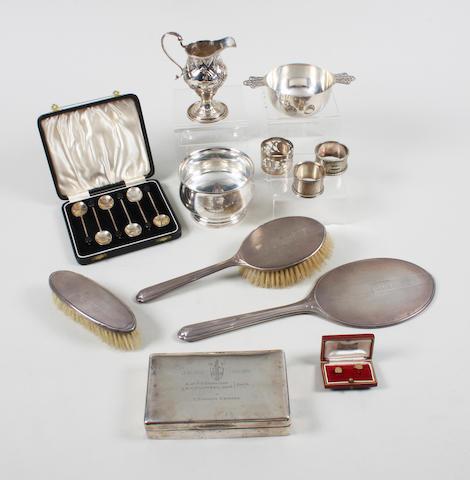 A George III silver cream jug Maker's mark indistinct, London, 1778,  (qty)