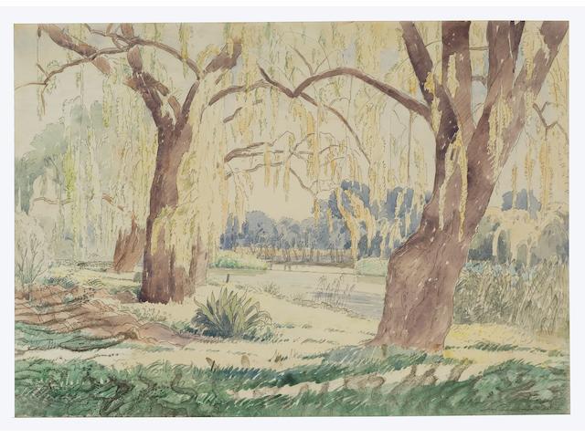 Jacob Hendrik Pierneef (South African, 1886-1957) The River Klip at Vreeland, Henley-on-Klip