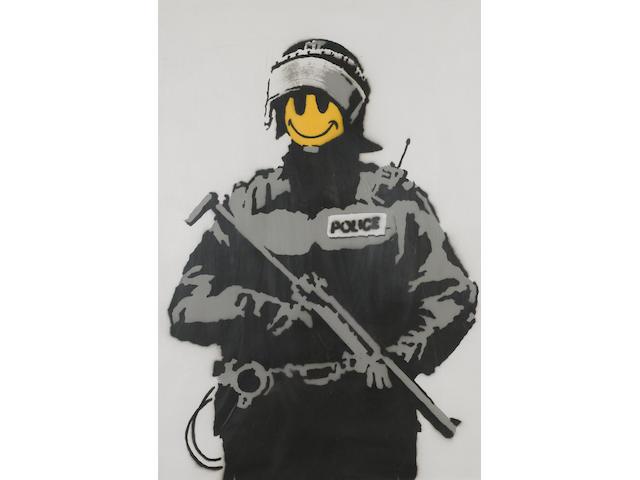 Banksy (British, born 1975) 'Smiley Copper', 2003