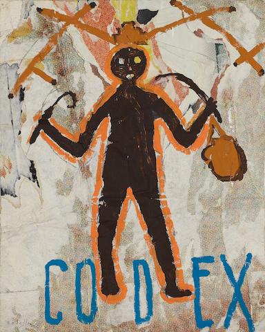Mimmo Rotella (Italian, 1918-2006) 'Codex', 1990