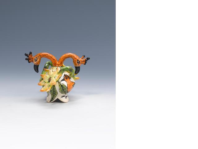 Ardmore Ceramics Hoopoe trinket miniature box