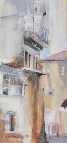 Sidney Goldblatt (South African, 1919-1979) Building study, oil on canvas