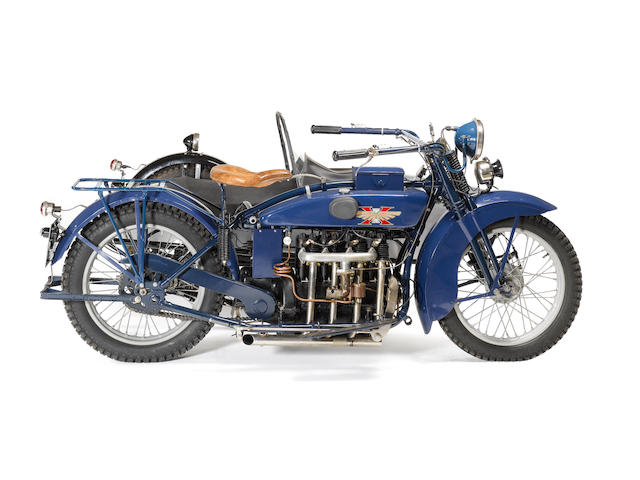 1923 Henderson Four De Luxe Motorcycle Combination  Frame no. 3365 Engine no. 3365