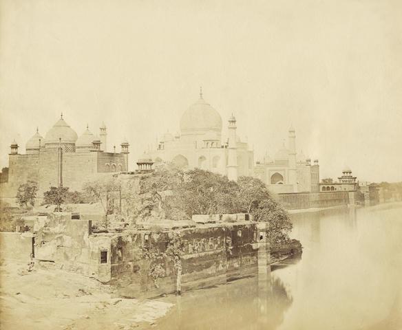 AGRA BEATO (FELICE) The Taj Mahal from the bank of the Jumna