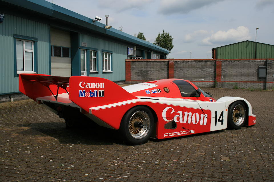 The Ex-Jonathan Palmer/James Weaver/Richard Lloyd,Bob Wollek/Mauro Baldi, Le Mans 24-Hours and Brands Hatch 1,000Kms-starring,1984-85 'Honeycomb Chassis' Porsche Racing Type 956 Group C Racing Coupé