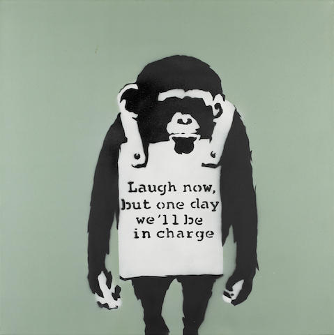 Banksy (British, born 1975) 'Laugh Now'