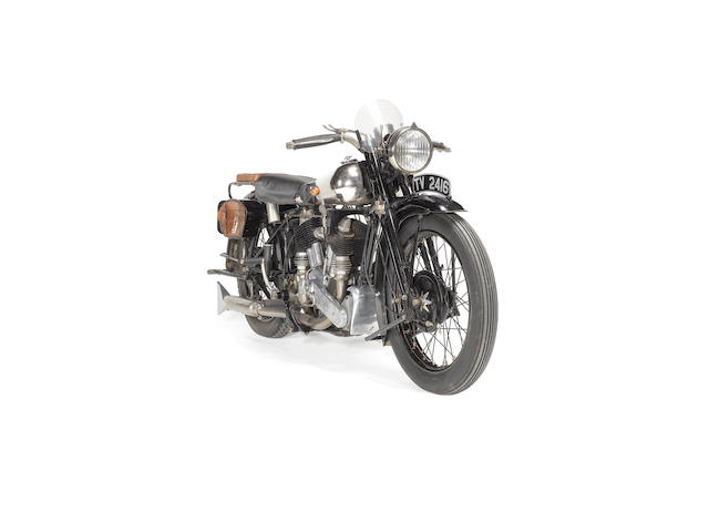 1930 Brough Superior 998cc SS80  Frame no. 998J Engine no. 92389