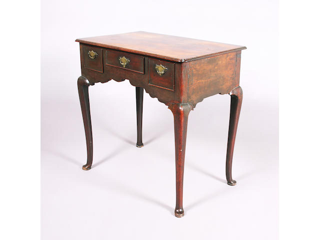 A George II mahogany lowboy of good colour, restraint and proportions