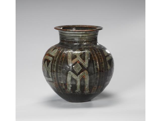 Ladi Kwali a large Water Jar, circa 1960 Height 33cm (13in.)