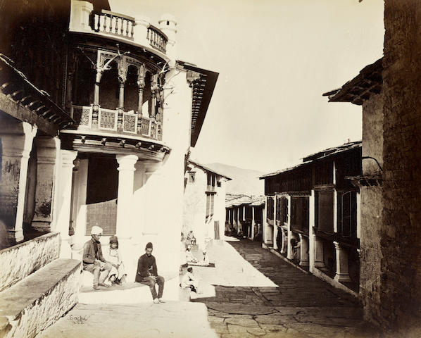 INDIA, HIMALAYAS and NEPAL  Views, many in the Himalayan foothills, 1870s