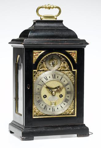 A good second quarter of the 18th century ebony veneered quarter repeating bracket clock of small size Nathaniel Seddon, St. James's, London