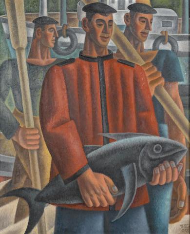 Nicolás Martínez Ortiz de Zárate (Spanish, 1907-1991) Pescador con bonito