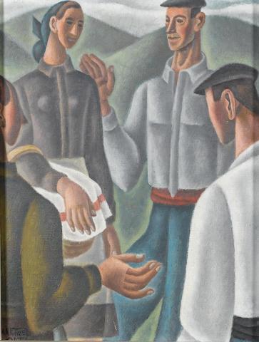 Nicolás Martínez Ortiz de Zárate (Spanish, 1907-1991) Spanish peasants