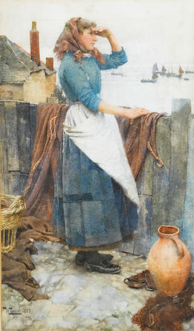 Walter Langley, RI (British, 1852-1922) The fisher's daughter
