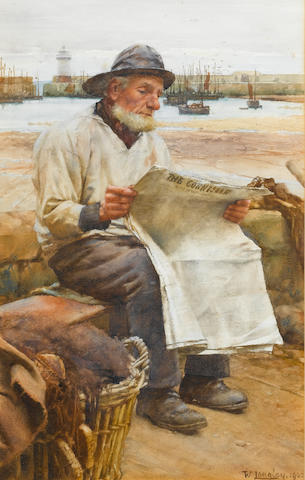 Walter Langley, RI (British, 1852-1922) News from afar