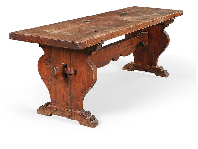 An Italian 16th century style walnut refectory table