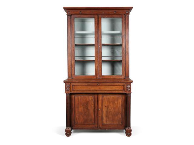 A Regency mahogany secretaire bookcase circa 1820