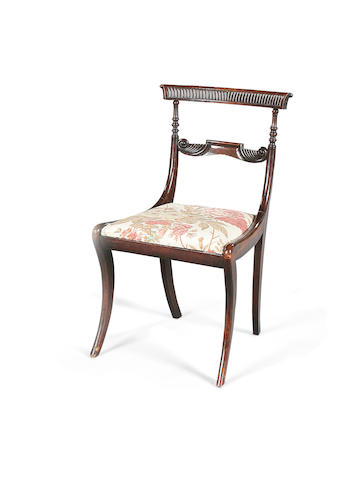 A set of six Regency rosewood grained dining chairscirca 1820