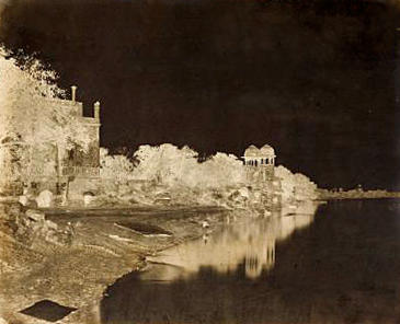 AGRA  Two views on the banks of the Jumna by John Murray, c.1858-1862