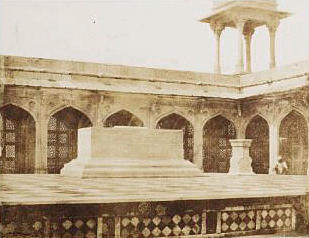 SIKANDRA  'Interior of the Quadrangle with the Cenotaph of Akbar', by John Murray, c.1857