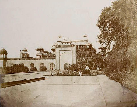 AGRA and SIKANDRA MURRAY (JOHN) Gateway to the Taj Mahal; View of Akbar's Tomb, [c.1857] (2)