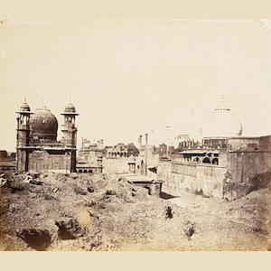 AGRA  Ruins near the Taj Mahal by John Murray, c.1858-1862