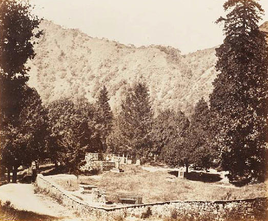 NAINITAL  The Churchyard by John Murray, c.1858-1862