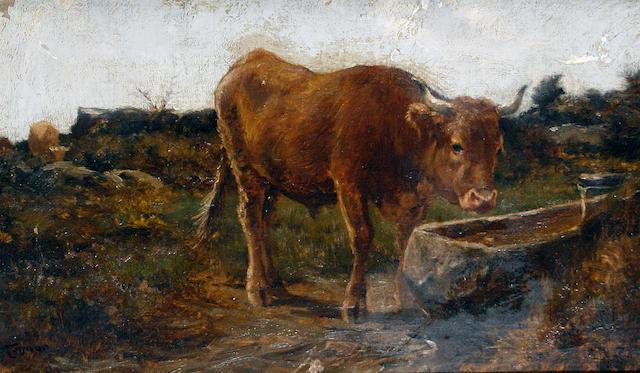 Federico Rossano (Italian, 1835-1912) Drinking time