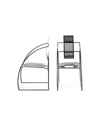 A pair of Quinta armchairs, designed for Alias by Mario Botta (2)